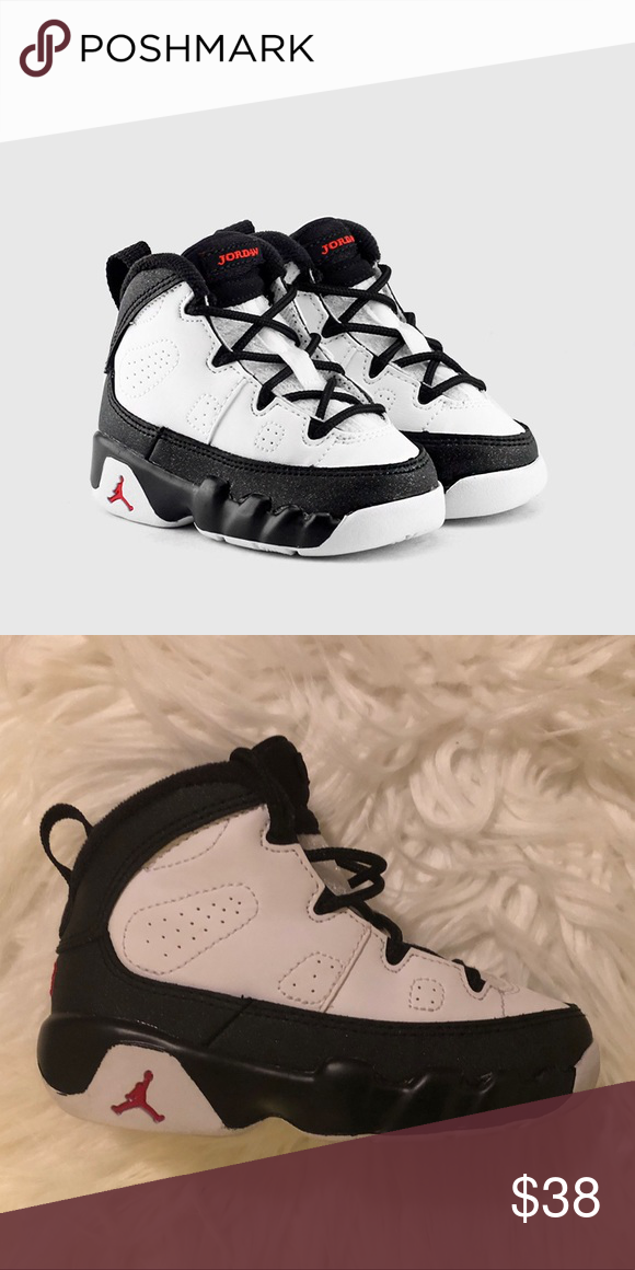 sale retailer 60d85 6ba41 Jordan 9 Retro BT - Toddler White/True Red-Black Jordan ...