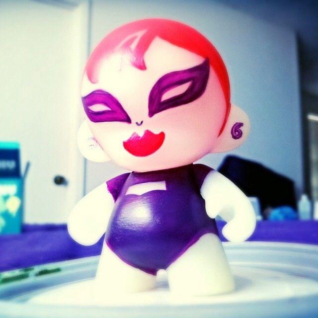 Her name is Viper #loveinpaint @Jessi Hardin #munny #kidrobot @Kidrobot