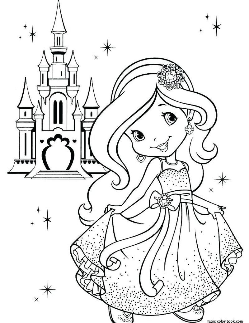 Color Castle Coloring Pages In 2020 Princess Coloring Pages Strawberry Shortcake Coloring Pages Cartoon Coloring Pages