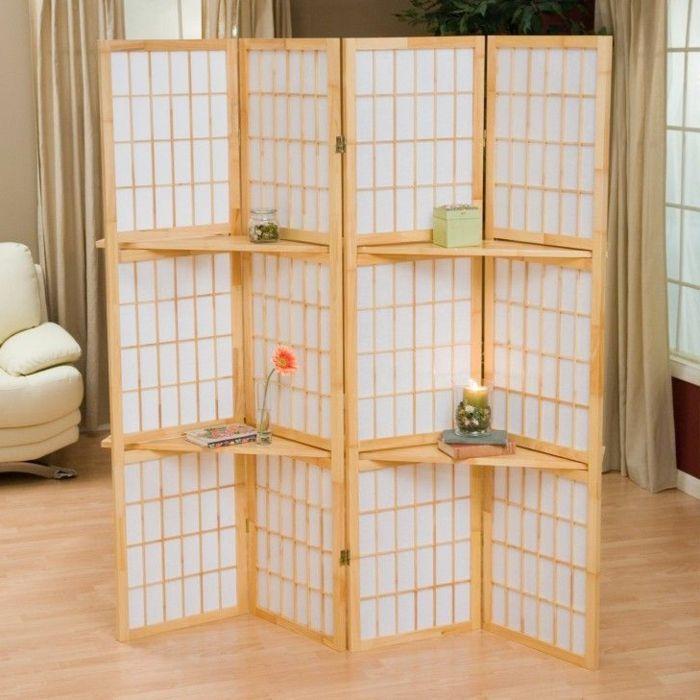 1001 ideas de separadores de ambientes decorativos y funcionales ideas para decorar room - Estanterias separadoras de ambientes ...