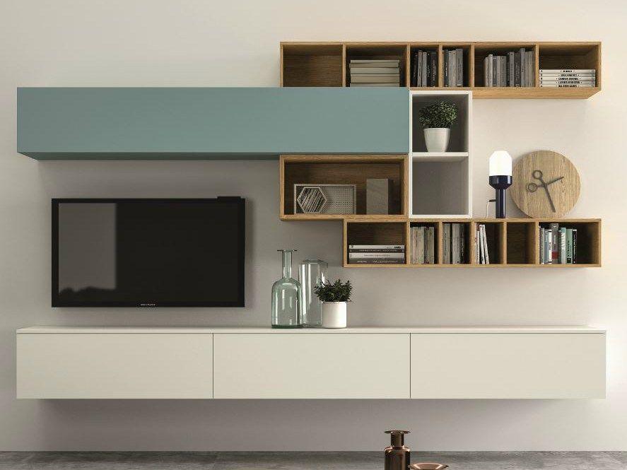 mueble modular de pared composable slim 100 colecci n slim by dall agnese dise o imago design. Black Bedroom Furniture Sets. Home Design Ideas
