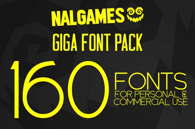 Download NAL Giga Font Pack:160 個英文字型包,限時免費下載 | Font packs ...