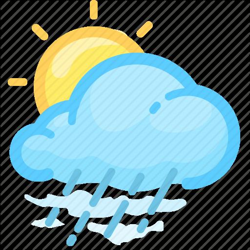 Cloud Cloudy Forecast Rain Rainy Sun Weather Icon In 2020 Weather Icons Weather Cloud All Icon
