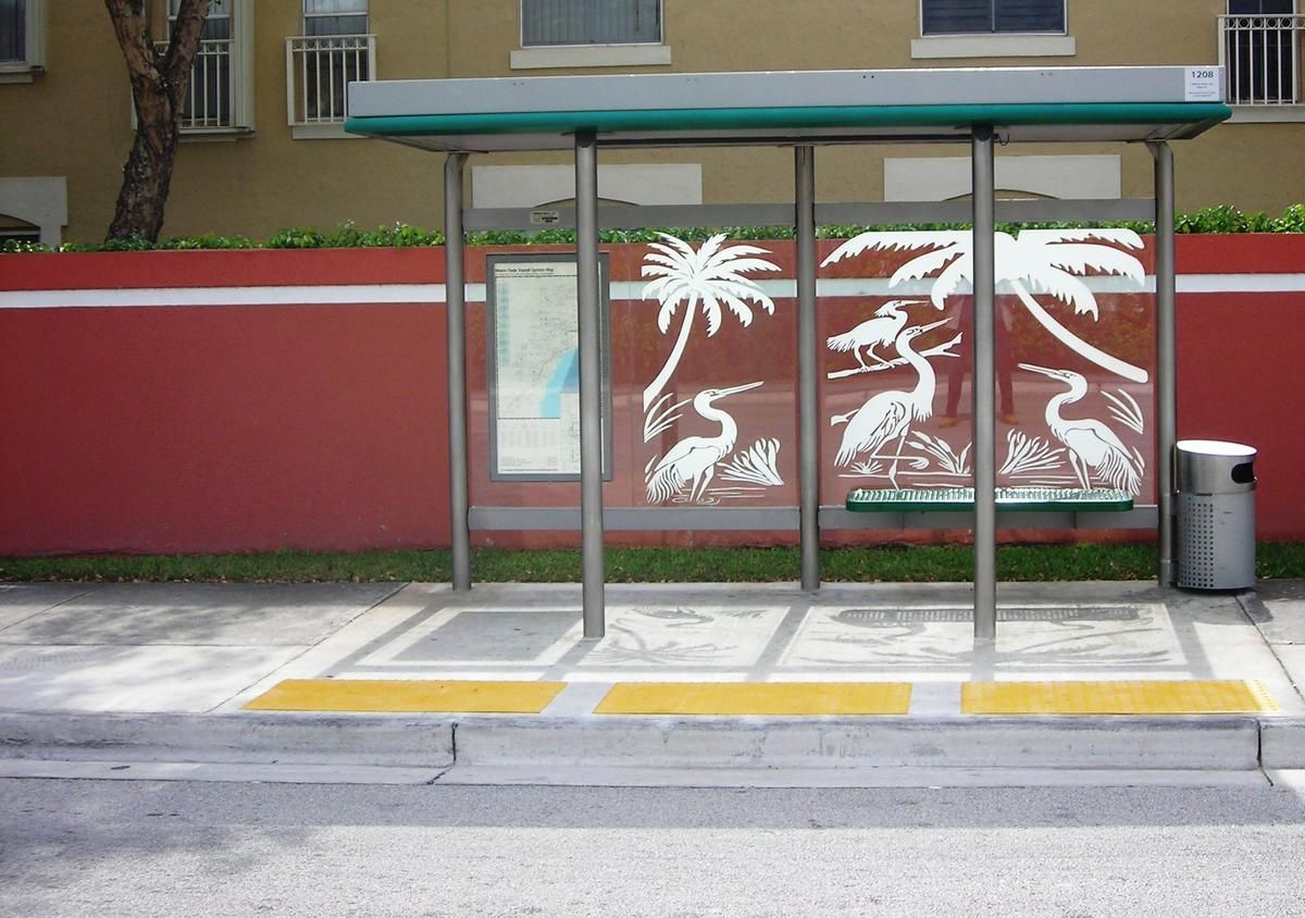 We Asked Miami Dade Transit Why Not Every Bus Stop Has A Shelter Wlrn Miami Dade Bus Stop Shelter