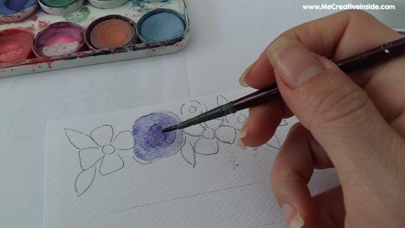 me creativeinside quadretto acquerelli calligrafia