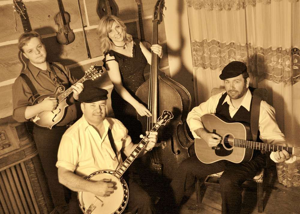 Contemporary Bluegrass Band Playing New And Old Favorites