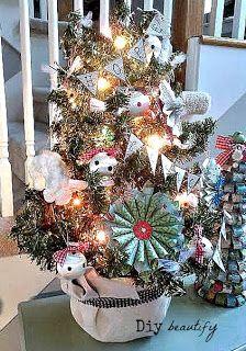 Mini Tree and DIY Ornaments | Diy beautify