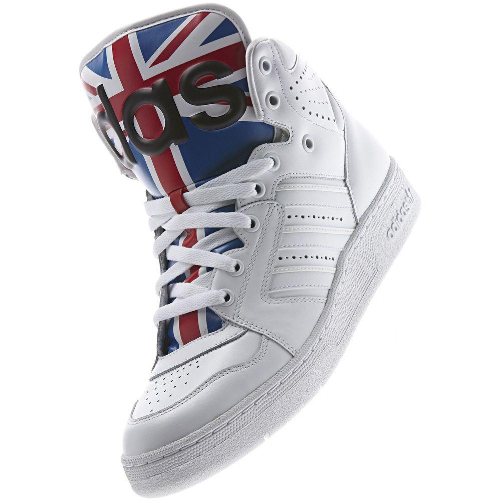 image: adidas Jeremy Scott Instinct Hi Union Jack Shoes