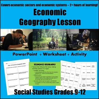 Economic geography, economic sectors, types of economies- awesome