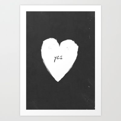 yes!+Art+Print+by+Three+Lives+Left+-+$21.00