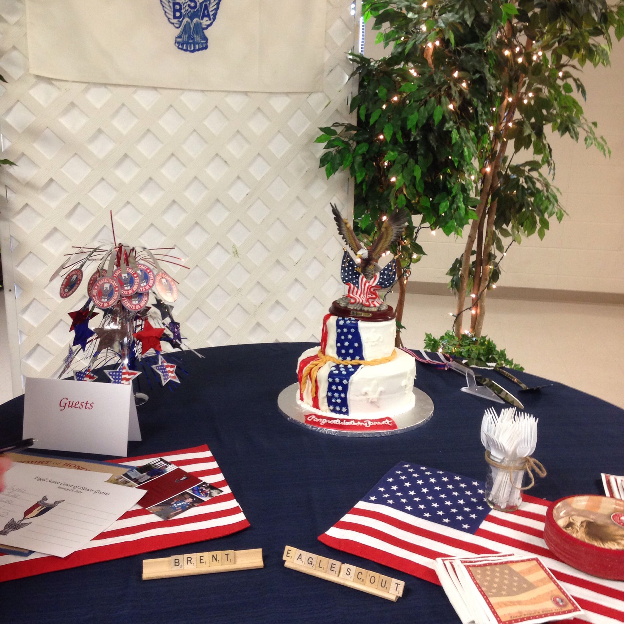 Eagle Scout Court Of Honor Reception Table Flag Placemats