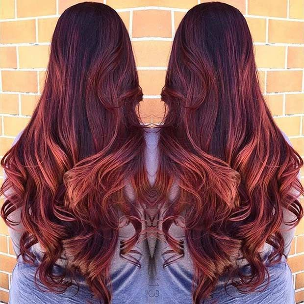 21 Amazing Dark Red Hair Color Ideas Page 2 Of 2 Stayglam Red Hair Color Dark Red Hair Deep Red Hair
