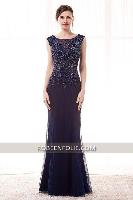 Magnifique robe de soirée en crêpe pas chère de nouvelle collection 2016