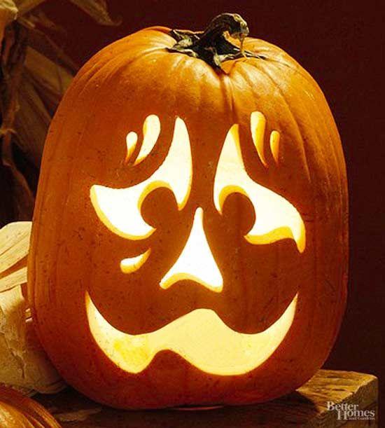 nervous face pumpkin stencil craft ideas halloween pumpkins rh pinterest com