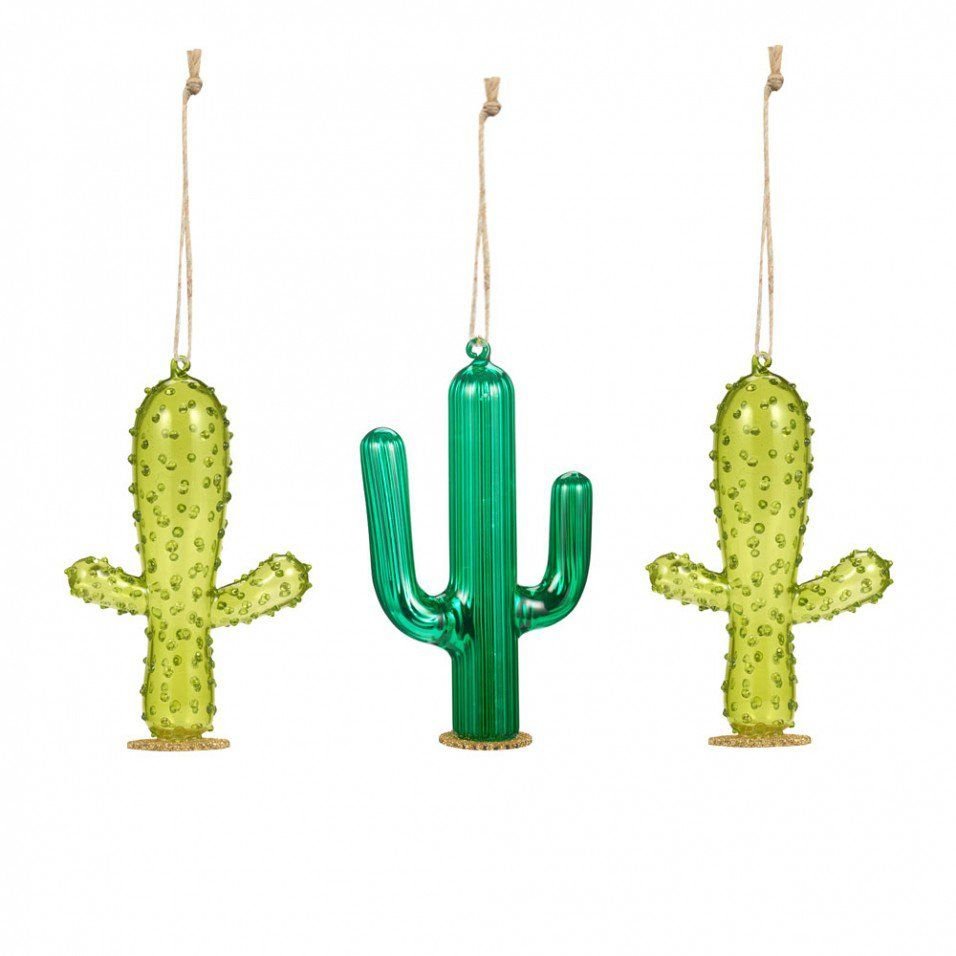 glass cactus christmas ornament yahoo image search results - Cactus Christmas Decorations