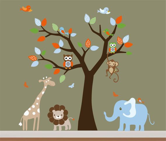 Children Wall Decals Safari Nursery Jungle Wall By NurseryWallArt - Church nursery wall decals