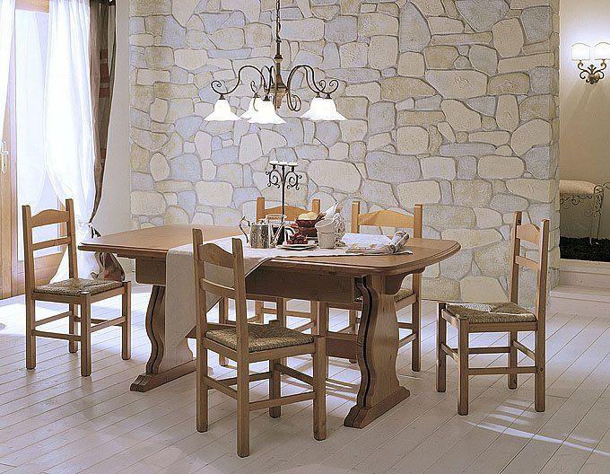 Tavolo Taverna ~ Soggiorno completo in color nocciola composto da giropanca tavolo