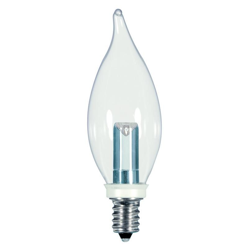 Satco 1 Watt Cfc E12 Base Chandelier Led Flame Light Bulb 2700k Light Bulb Bulb Candelabra