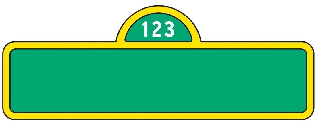 Sesame Street Sign Template Category Sesame Street