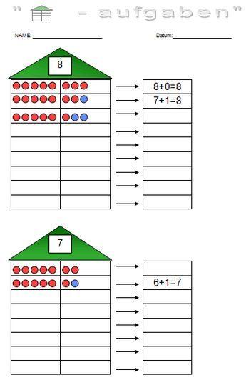 rechnen bis 10 zahlzerlegung und addieren bis 10 unterricht montessori mathe mathe und. Black Bedroom Furniture Sets. Home Design Ideas
