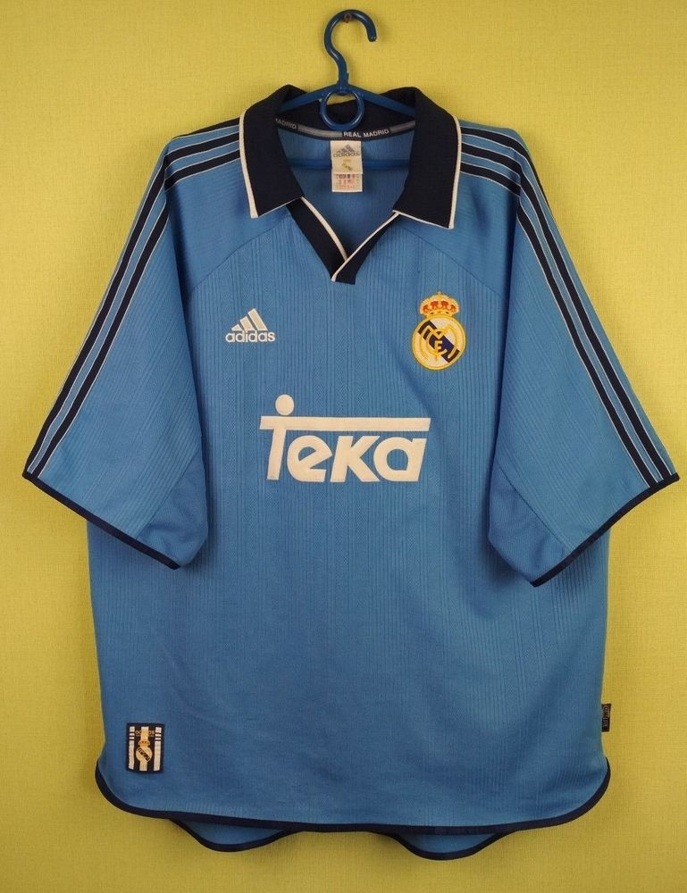553810857 Real Madrid jersey shirt 1999 2000 Third football soccer official adidas  size XL (eBay Link)