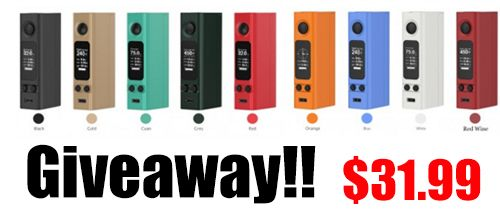 Joyetech EVic VTwo Mini TC Box Mod Giveaway  https://wn.nr/LNDytV