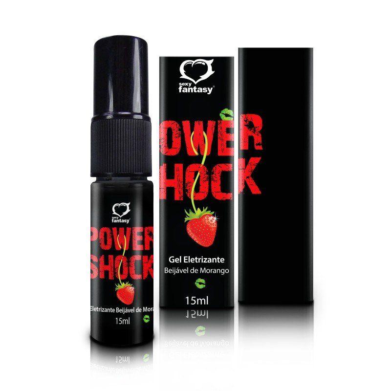 A Sex Shop Erotic Mania apresenta o Gel Eletrizante Power Shock Beijável 15ml Spray, clique e confira!