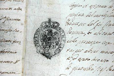 Codigoro Regno d'Italia Impero Napoleonico 1813 Contratto di Subuso
