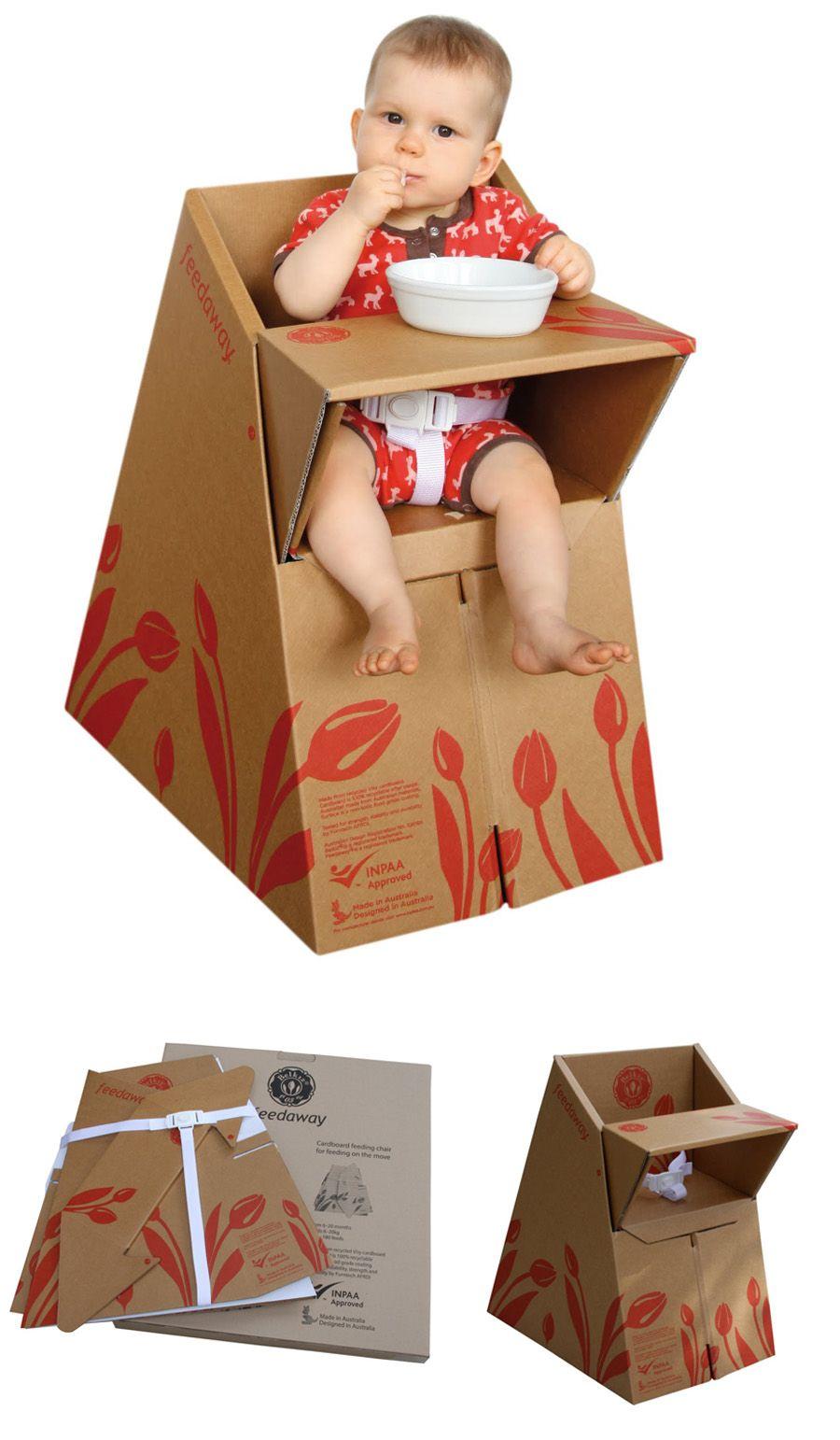 Sillita de cartón para bebés (Feedaway) | Cardboard furniture, Card ...
