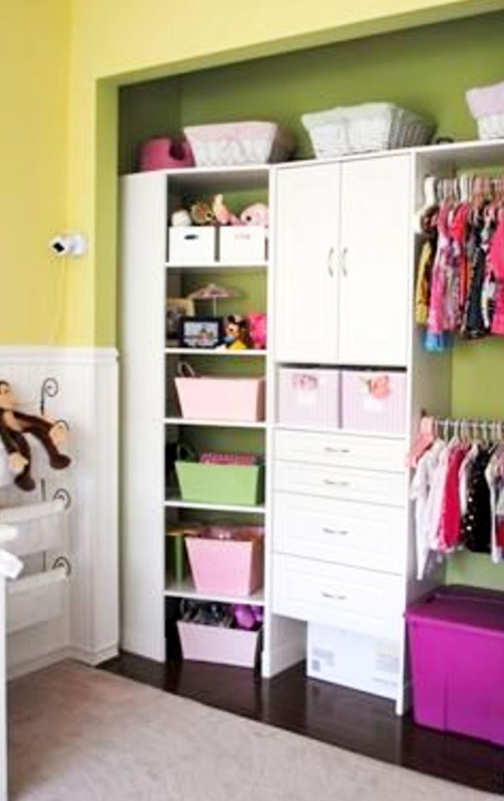 Clever And Creative Idea For A Nursery Closet Or Small Childu0027s Closet. Take  The Doors