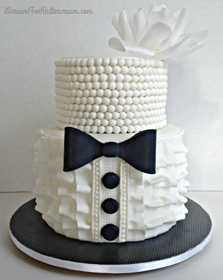Bridal shower ruffle cake