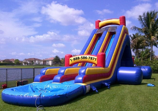 My Florida Party Rental Bounce House Water Slide Tent Miami Broward Water Slides Backyard Water Slide Rentals Water Slides