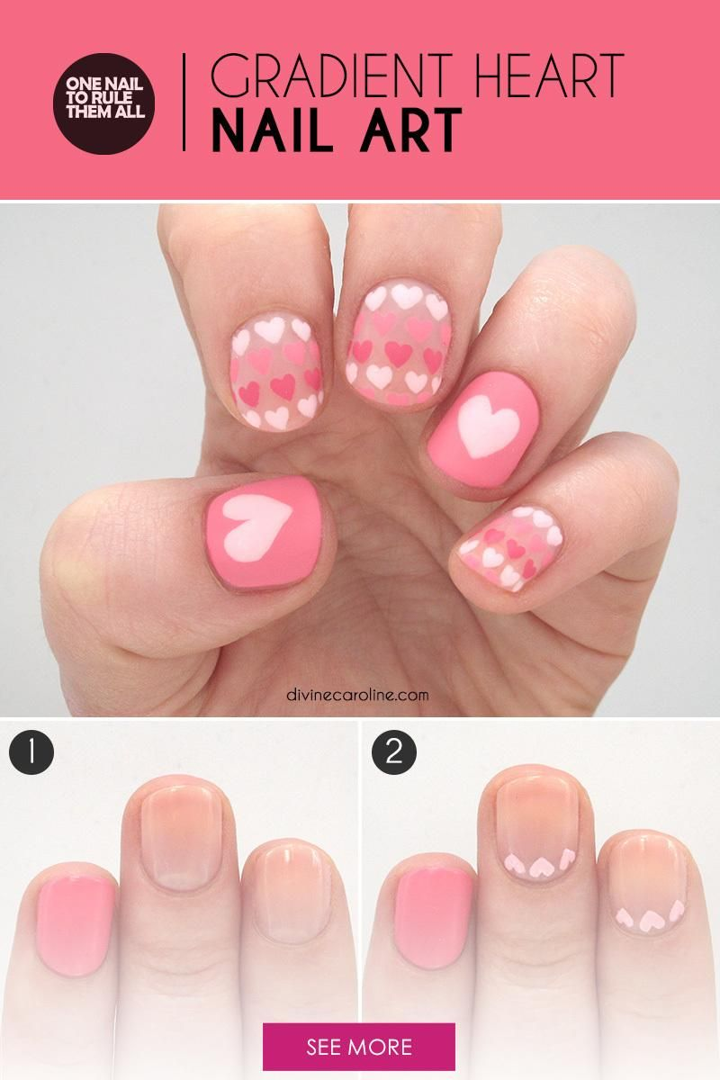Sweet Heart Nail Art To Fall In Love With The Height Of Fashion