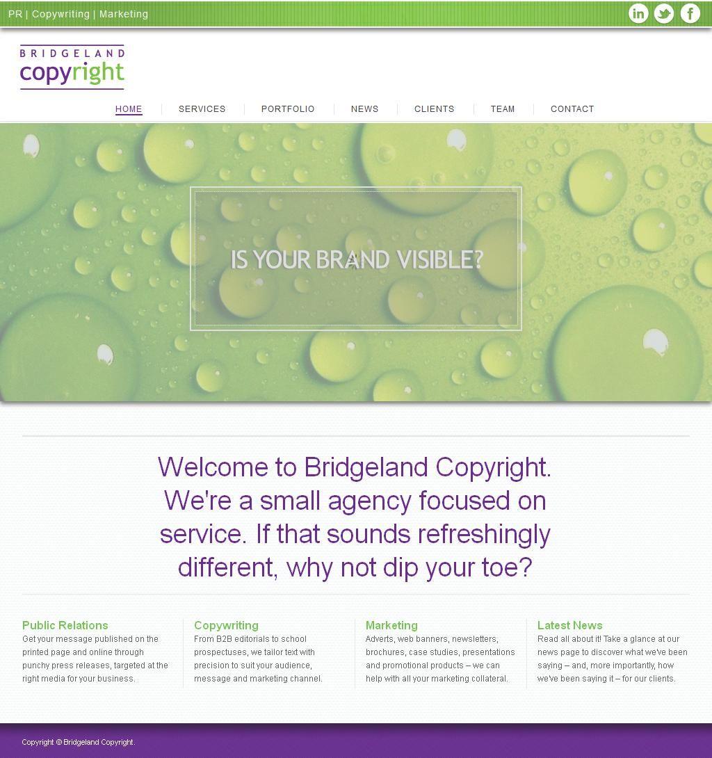 Bridgeland Copyright Writers Technical & Commercial