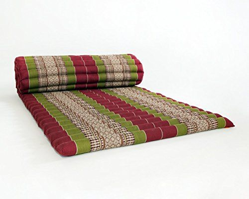 Design By Unseenthailand Roll Up Thai Mattress Kapok Fabric Premium Double Sched 79x30x2