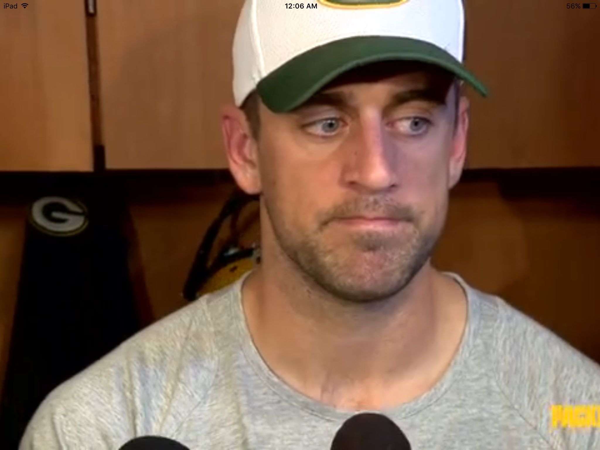 Aaron Rodgers Locker Room Press Conference Athletic Supporter Baseball Hats Aaron Rodgers