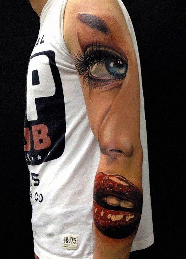 50 Impresionantes Tatuajes Realistas En 3d Ink Pinterest
