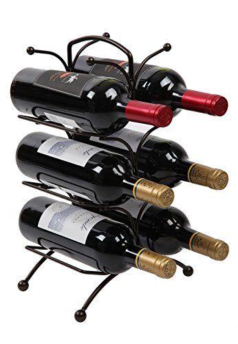 CdyBox Retro Artillery Shape Red Wine Bottle Holder Metal Furnishing Craft Christmas Gift