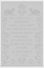 Filet Crochet: Crochet Filet 23rd Psalm chart graph