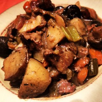 Crockpot Beef Stew with Pumpkin Beer
