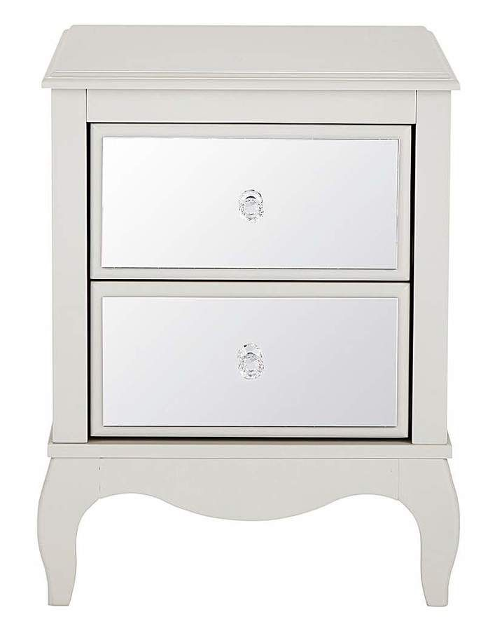 Mirrored Bedside Table With Drawers: Elise Mirrored 2 Drawer Bedside Table😍