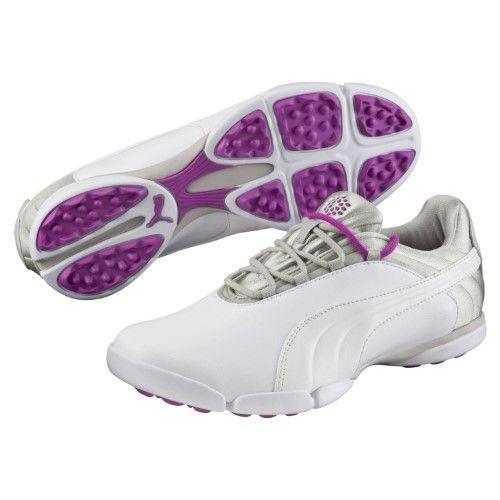Puma Women s Sunnylite V2 White-Gray Violet-PU 6 5a28355a23