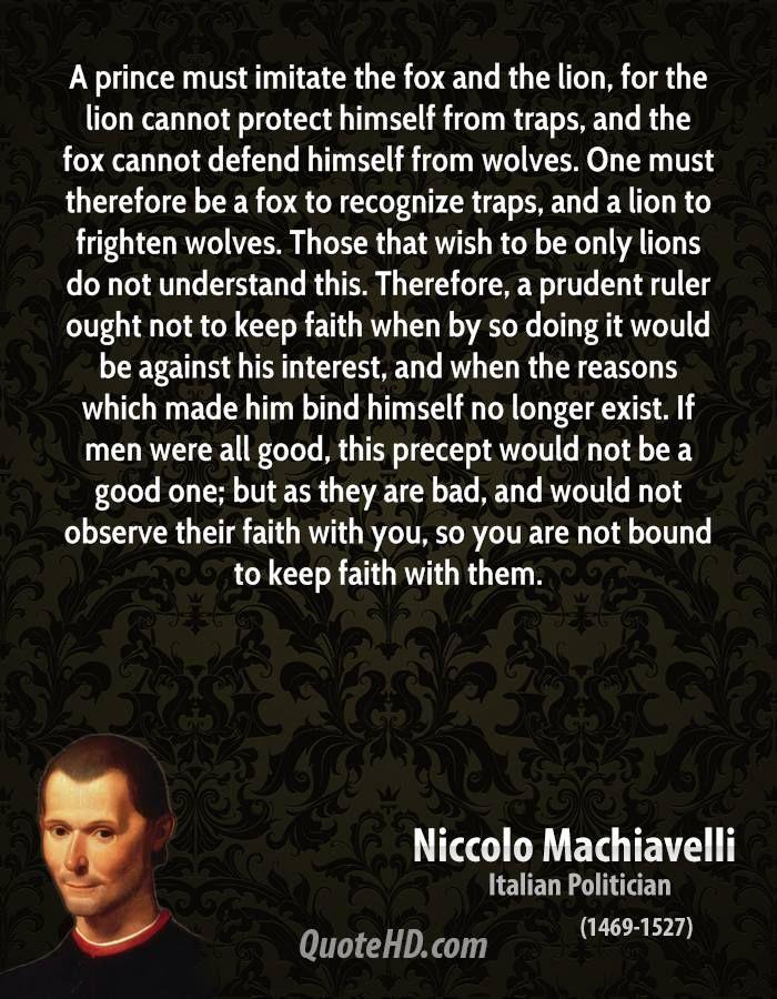 Machiavelli Quotes Niccolo Machiavelli Quotesquotesgram  Machiavelli  Pinterest