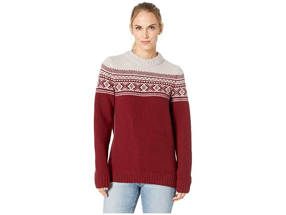 Fjallraven Ovik Scandinavian Sweater Dark Garnet Women S Sweater Feel As Unique As An Individual Snowflake While Yo Clothes Free Clothes Shop Summer Dresses