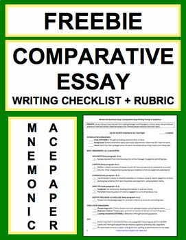 Essays Topics In English Free Comparative Essay Writing Checklist And Rubric Effortlessly Teach  Students How To Write Comparative Essays  Comparative Writing Prompt   Commoncore  High School Entrance Essay Examples also Physics Assignment Help Comparative Essay Writing Checklist Guide  Rubric Free  Lifesaving  Cheap Phd
