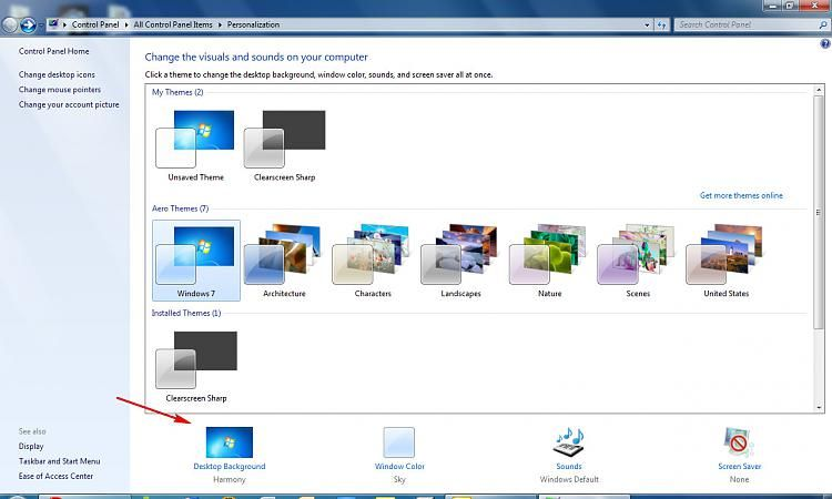How To Change Your Desktop Background On Windows 7 Starter Youtube