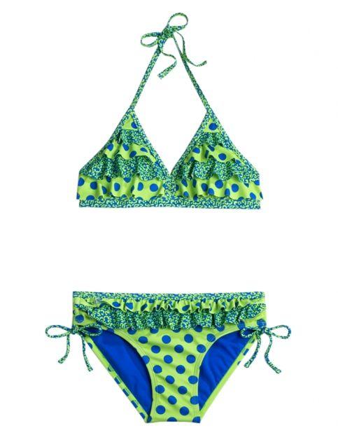 Ruffle Dot Bikini Swimsuit Girls Swimsuits Swimwear Shop Justice Swimsuits Bikinis Swimwear