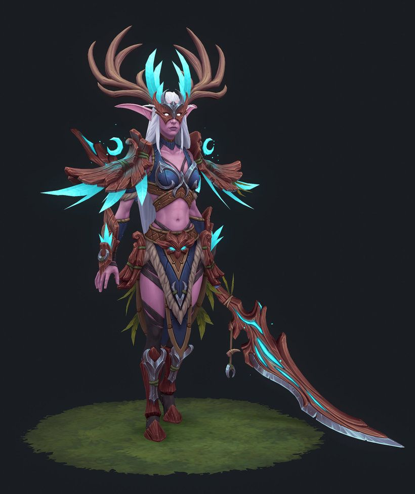 How Night Elf Heritage Armor could look like (3D Model by