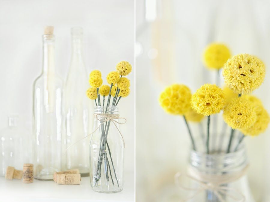 Nope Nothing As Adorable As A Bunch Of Billy Button Flowers They Look Like Little Yellow Pompoms And Diy Flower Projects Dried Flowers Diy Button Flowers