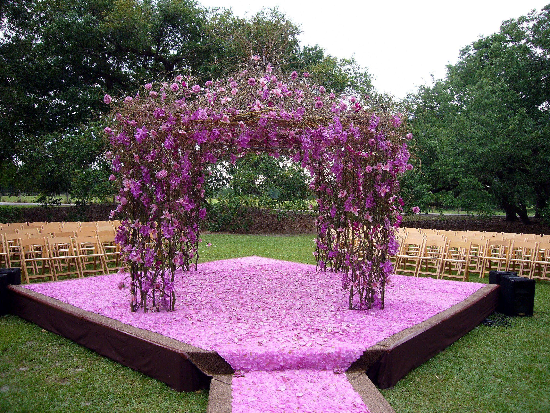 Wedding Ceremony Ideas Flower Covered Wedding Arch: Altars, Floral